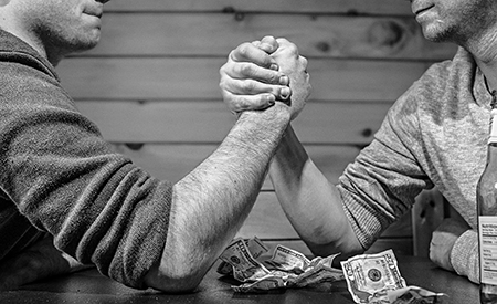 stock arm wrestling photo
