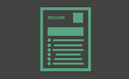 stock image of a resume