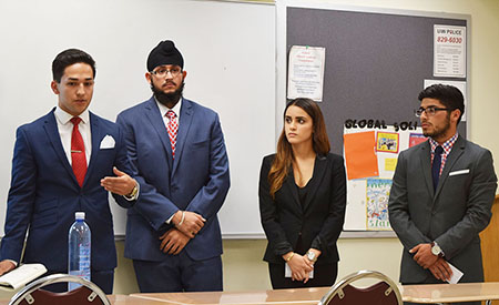 Capstone students present project