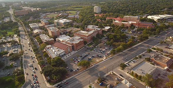 Ariel view of the University of the Incarnate Word campus