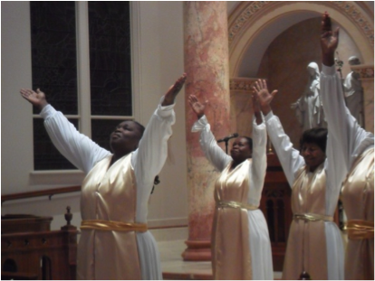 Holy Redeemer Dancers share at the Chapel of the Incarnate Word